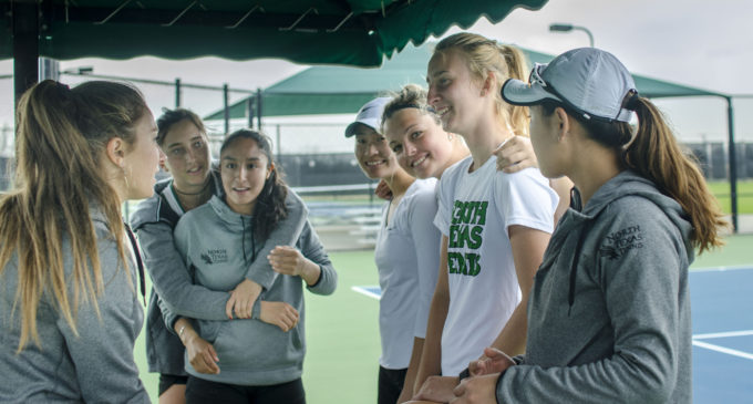 In the midst of a tough schedule, North Texas tennis determined to improve