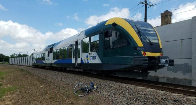 DCTA train hits and kills cyclist