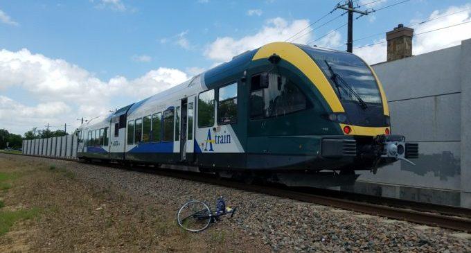 DCTA train hits and kills cyclist