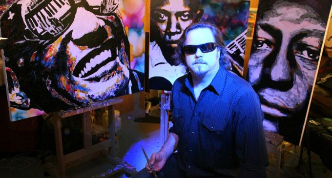 Blind Artists Painting Soars To New Heights North Texas Daily - Blind artist