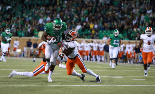 Wilson, Fine lead North Texas past UTEP on homecoming