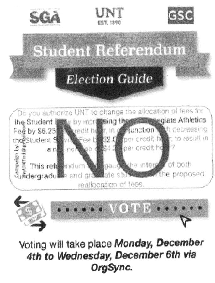 athletic fee referendum to be put to a re vote north texas daily