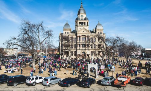 Marchers reunite on Denton Square for second annual Women's March