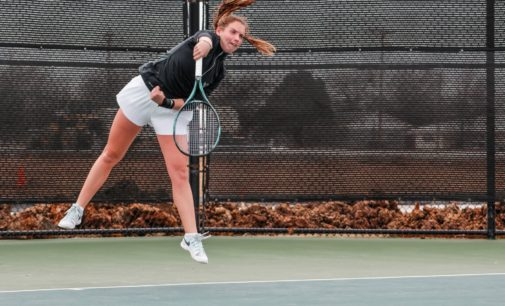 Tennis steals home win over Iowa behind Kutubidze heroics