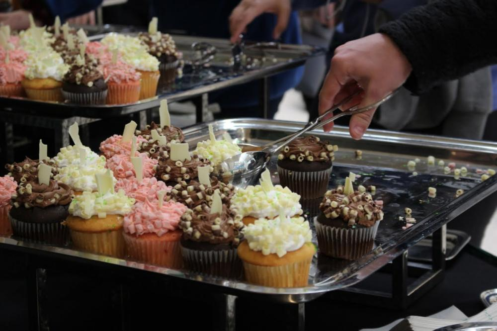 Cupcakes were served Wednesday afternoon at Union Fest.