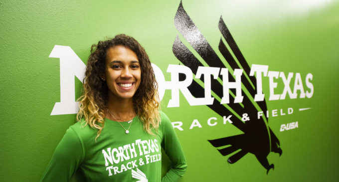 Freshman Amber Walker is jumping over her expectations