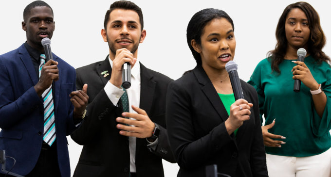 SGA candidates talk student issues, transparency at presidential and vice presidential debate