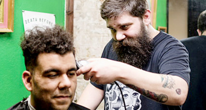 The Bearded Lady barbershop offers a unique haircut experience