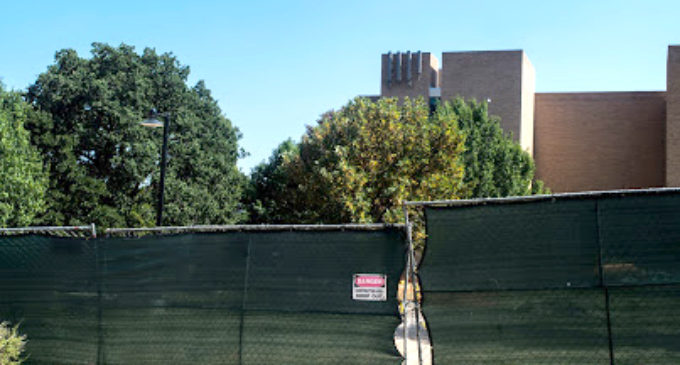 Area between Willis Library and Hurley Administration Building receiving a makeover