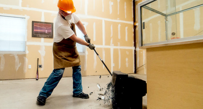 The Breakroom gives visitors a smashing experience