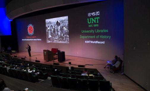 UNT History Professor Wraps Up Potential Record-Breaking Lecture