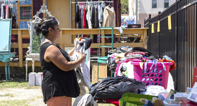 Pop-up clothing swaps reduce, reuse and rediscover styles
