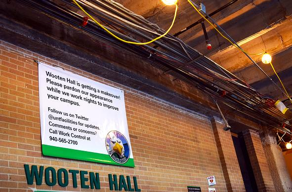 Wooten Hall Construction set to end in December