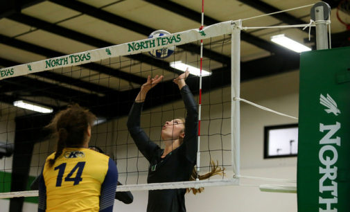 Mean Green volleyball takes a loss against the Owls