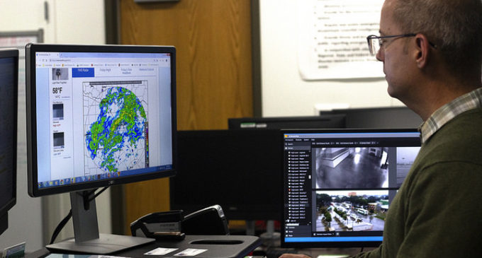 UNT's Emergency Management staff working on after action report