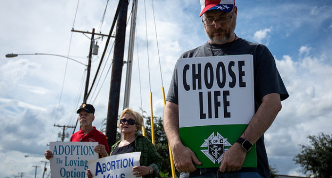 Denton church puts on anti-abortion demonstration
