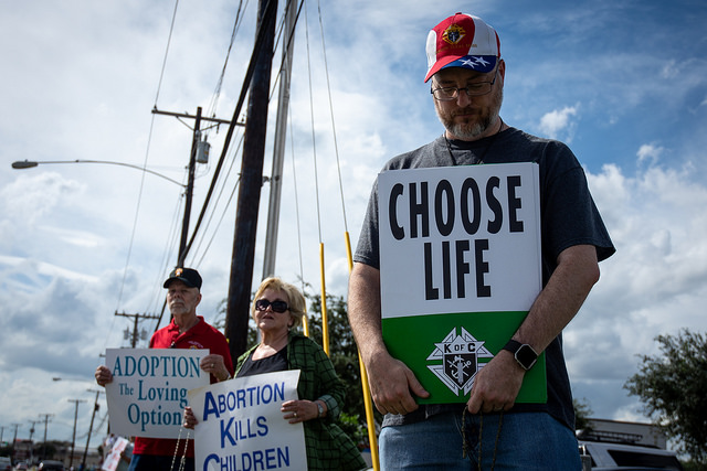 Denton church puts on anti-abortion demonstration