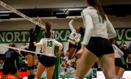 "Mean Green volleyball defeats Tulsa in ""revenge tour"""