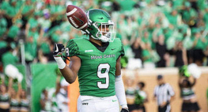 buy popular 4645a b7986 Jalen Guyton first to declare for Draft from North Texas ...