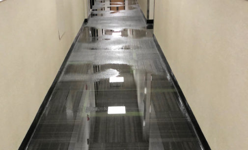 Construction workers washed tools in commodes during Wooten Hall renovations, resulting in last week's flood