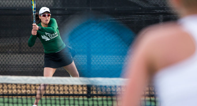 North Texas tennis splits weekend of home matches