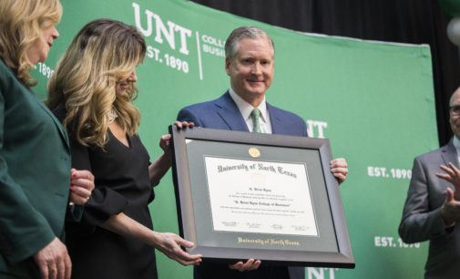 UNT Board of Regents chairman donates $30 million to College of Business, set to be renamed after him
