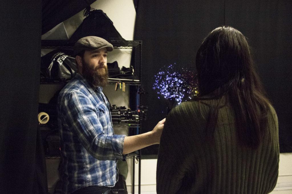 Light painter glows bright through niche art