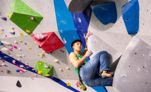 UNT rock climber reaches for the summit