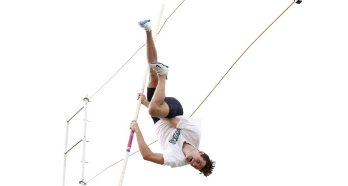 Pole vaulter Brock Hottel set school record in first collegiate meet after years of training with father