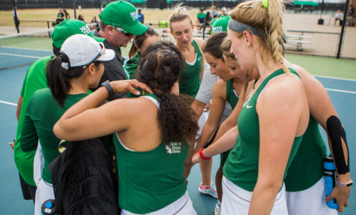 Tennis concludes conference schedule as tournament nears