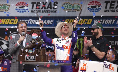 Denny Hamlin wins Texas Motor Speedway despite penalties