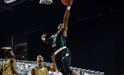 North Texas wins first conference tournament game under McCasland