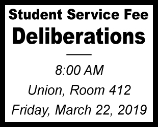 Student Service Fee Deliberations