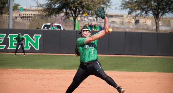 Mean Green softball sweeps Texas-El Paso, rises to 5-1 in conference