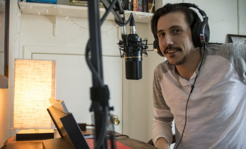 Media arts student turns the dial to his own radio station