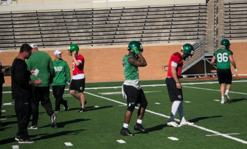 North Texas football holds their first spring practice to open up the 2019 season