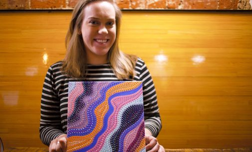 Dot painting artist uses work for greater cause