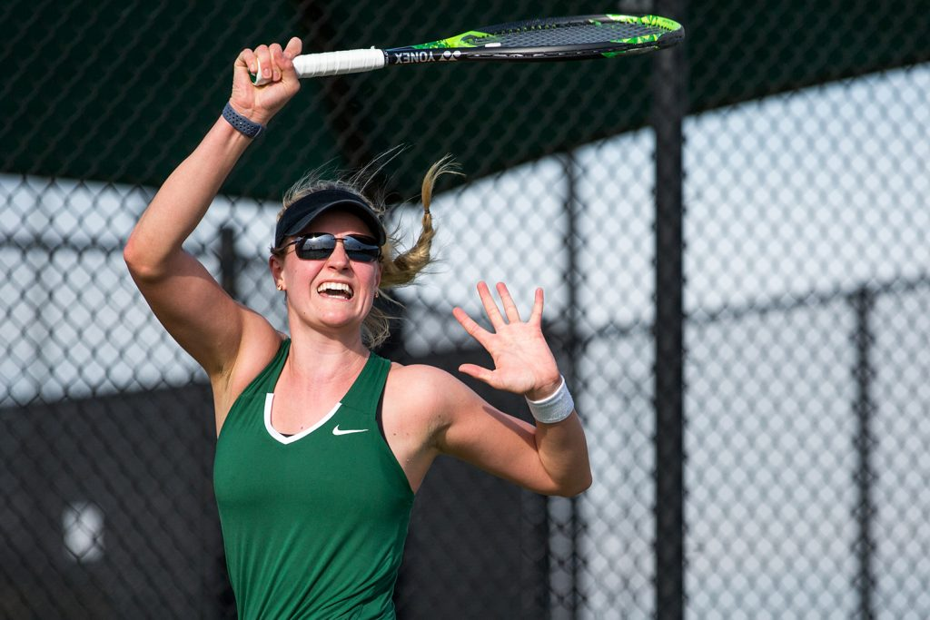 Tennis falls short in conference tournament semifinals