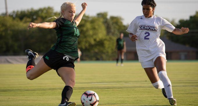 Soccer secures first win in new stadium in 7-0 victory