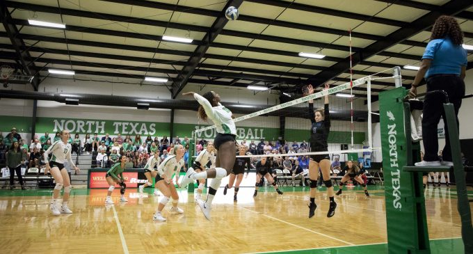 Mean Green volleyball pulls off comeback