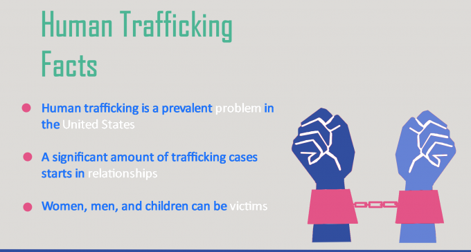 Human trafficking is something to be aware of on college campuses and off