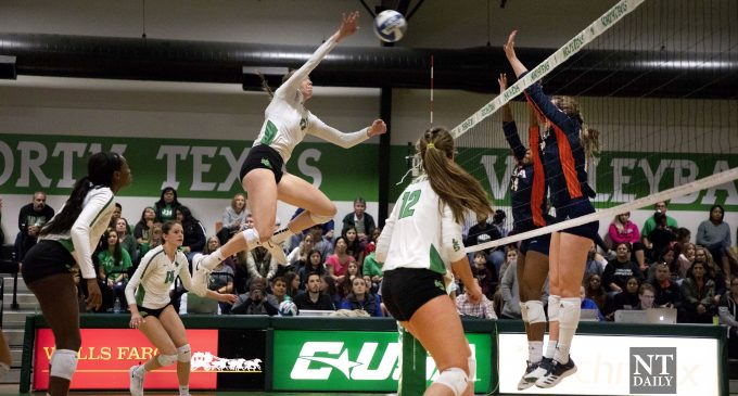 Recap: Mean Green volleyball wins final season finale at home