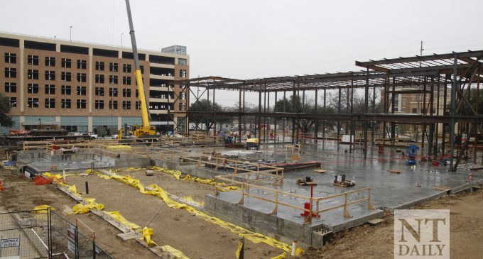 Demolition projects experience delays as construction continues at UNT