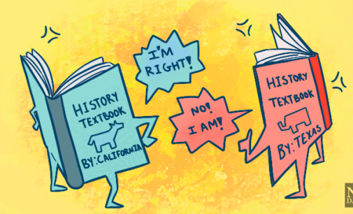 The differences in state history textbooks display the opposite of American democracy