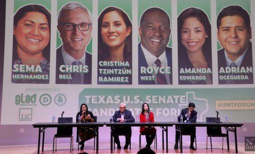 Democratic Candidates discuss issues during Texas Senator Forum