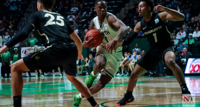 Offensive team-effort leads to North Texas 81-72 victory over Charlotte
