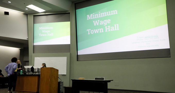 SGA minimum wage town hall sees low turnout