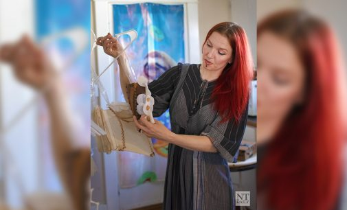 Denton artist conveys themes and emotions through unconventional art