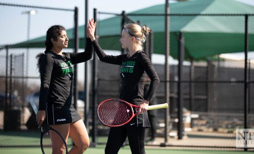 Recap: Women's tennis suffers loss in first match of the season