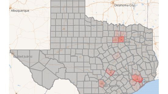 MAP: See where COVID-19 is in Texas and the U.S.